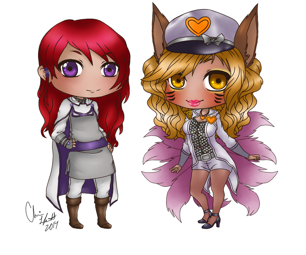 Commission Phe x Ahri by Iabeth