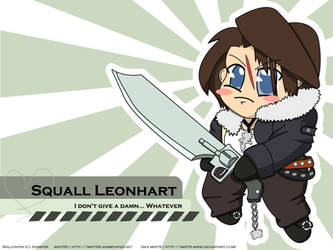 Chibi Squall Leonhart by mint9