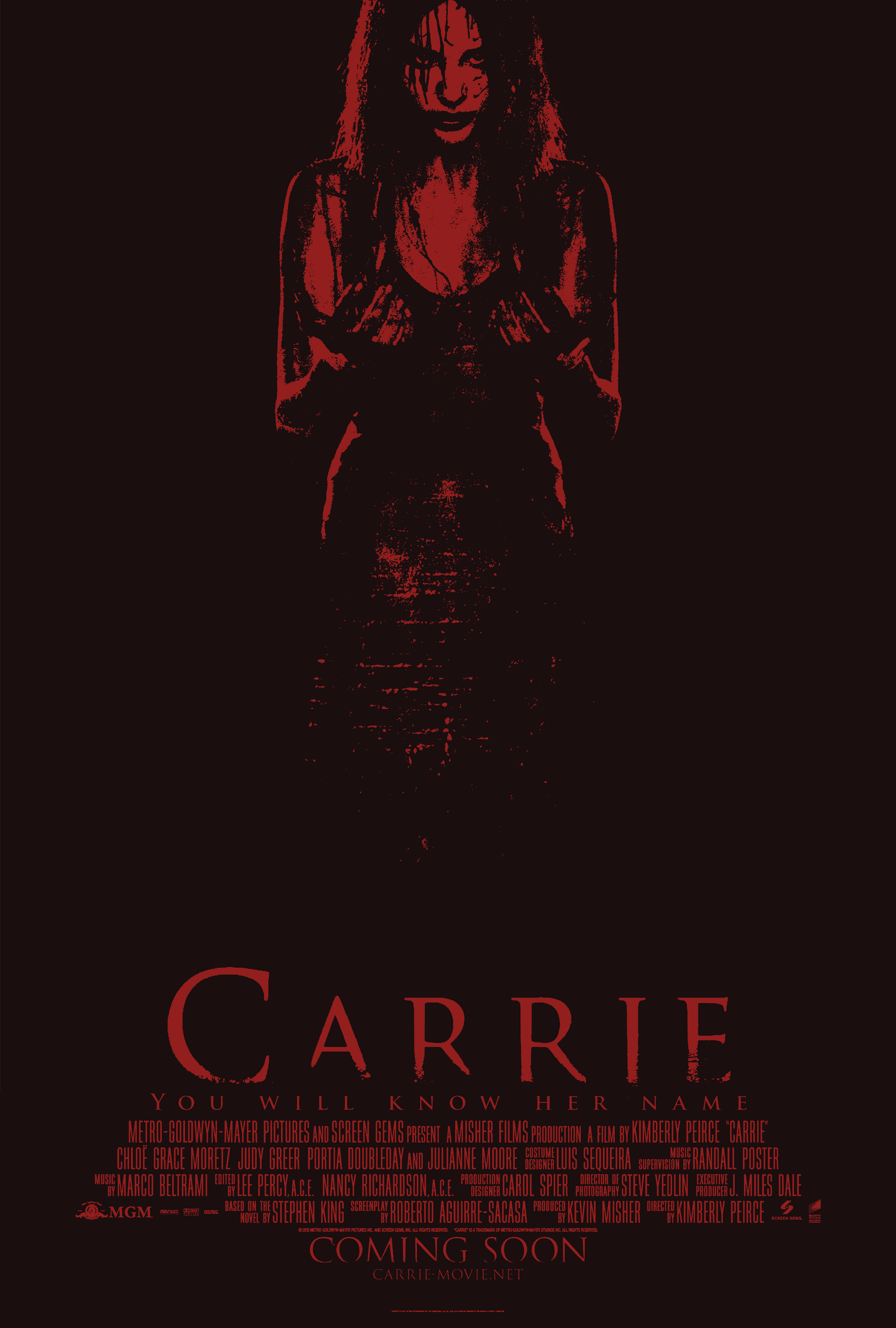 carrie 2013 movie poster by zyoxdesigns on deviantart