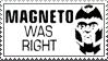 Magneto was Right Stamp by nakashimariku