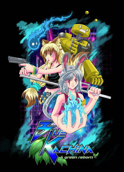 Blue-Kachina character poster