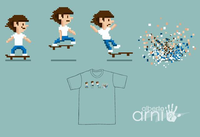 Pixel Skater Gone Wild by AlbertoArni