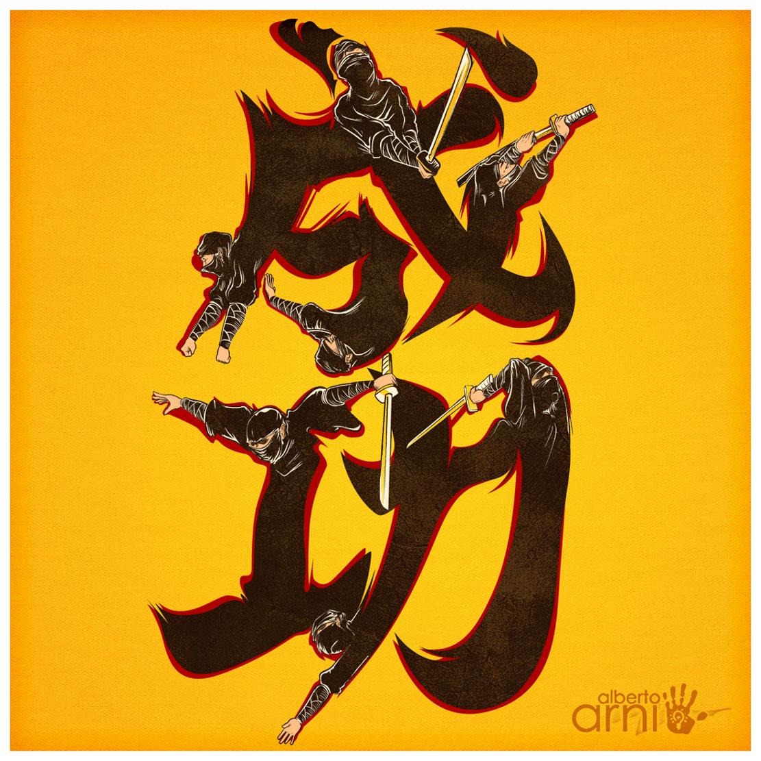 Ninja Kanji by AlbertoArni