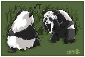 Panda Scream Face by AlbertoArni