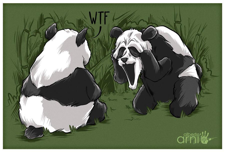 Panda Scream Face by AlbertoArni
