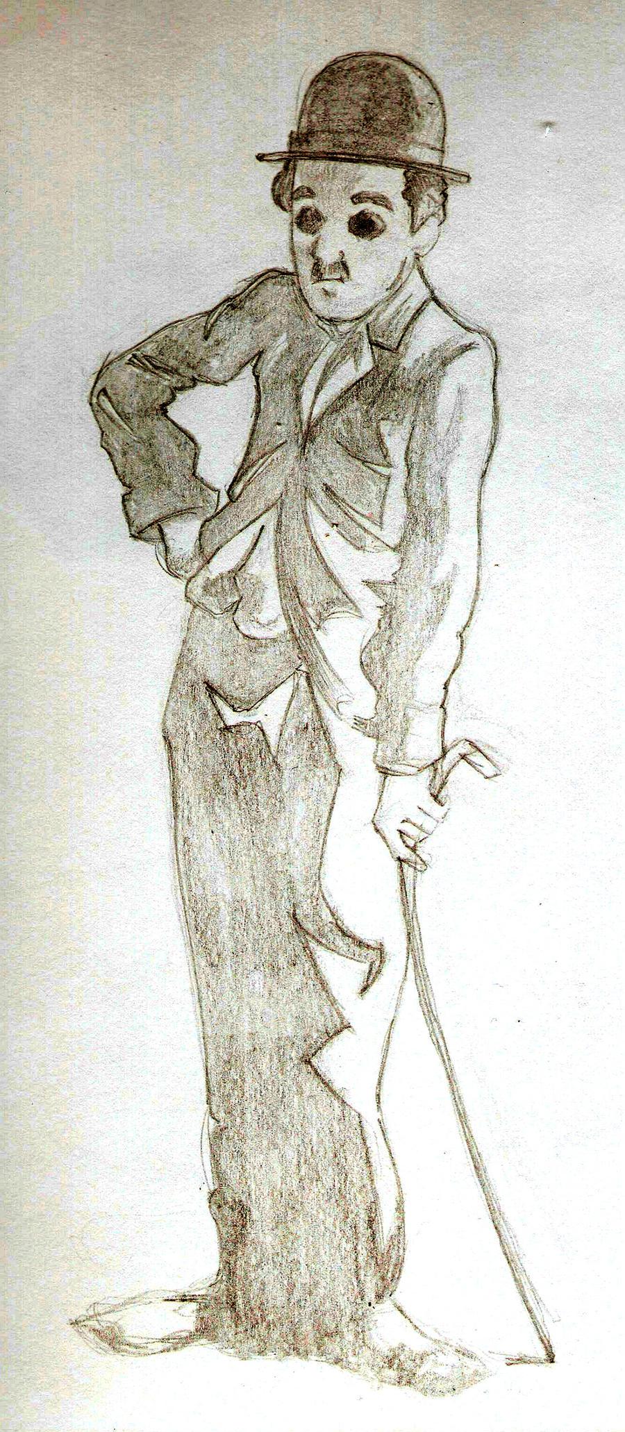Chaplin sketch by AlbertoArni