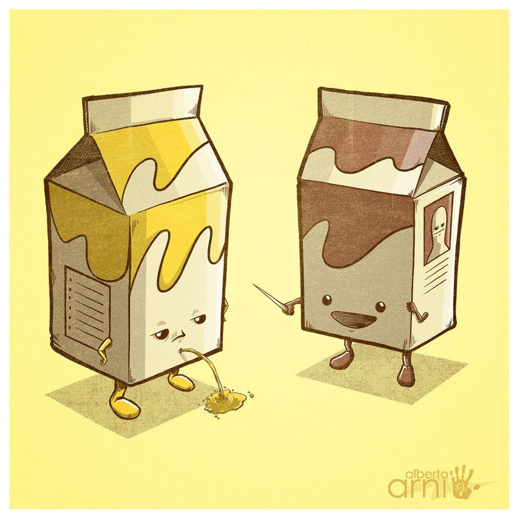 Practical Milk Joke by AlbertoArni