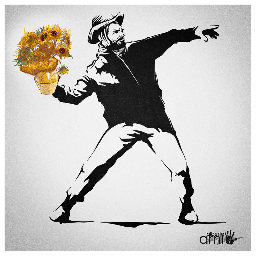 Van(ksy) Gogh's Sunflowers... by AlbertoArni