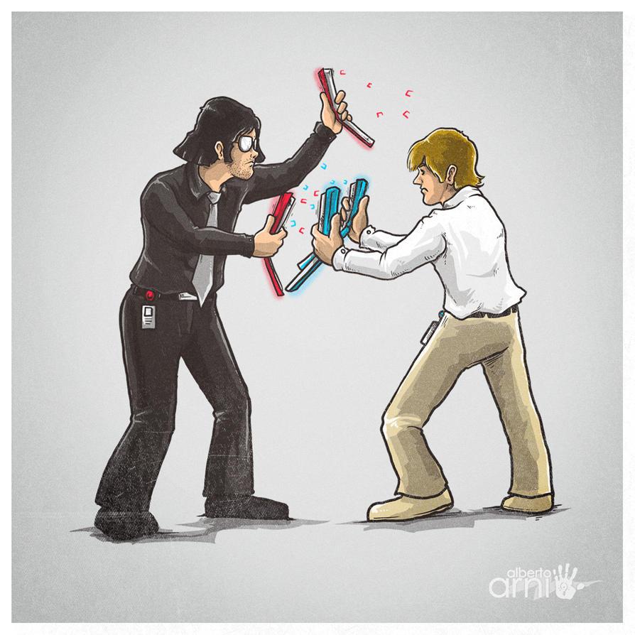 Stapler Wars by AlbertoArni