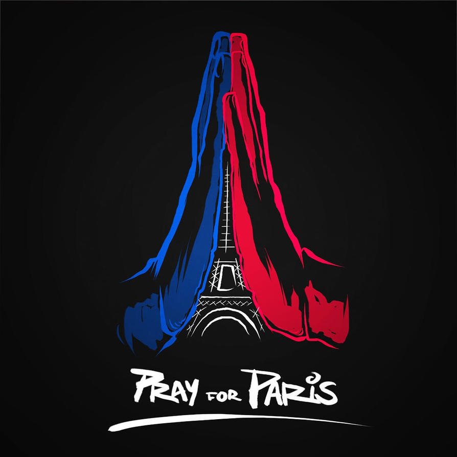 pray for paris by albertoarni on deviantart