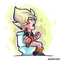 Goku in Toilet