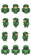 Master Chief Sprites by purplejub1993DJC
