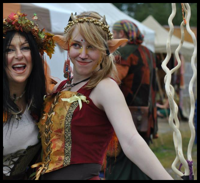 Flirty Satyr: Leaf Bodice by Mink-the-Satyr