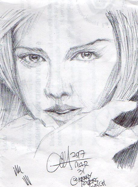 Charlize Theron miniSketch 01 by ethan-gmt