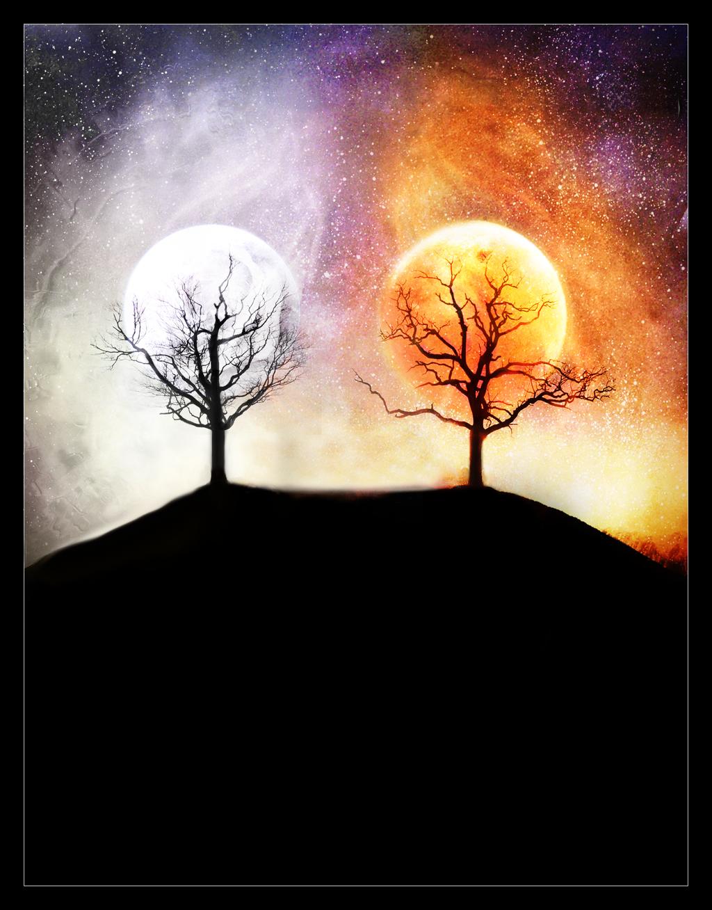 sun and a moon