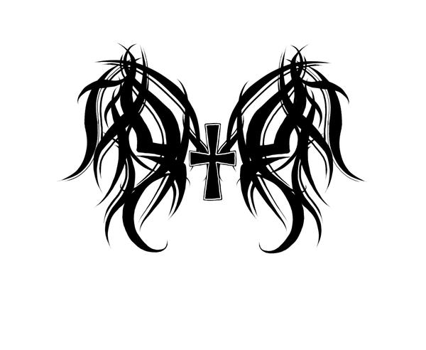 Tribal Wings Cross Tribal wings and cross byTribal Cross With Tribal Wings