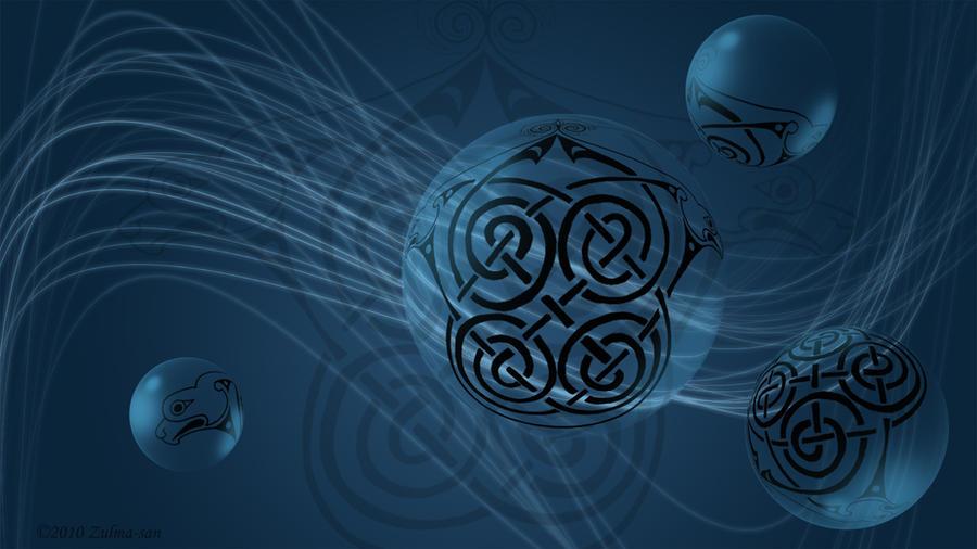 Blue Dog Celtic Knot Wallpaper by Zulma-san