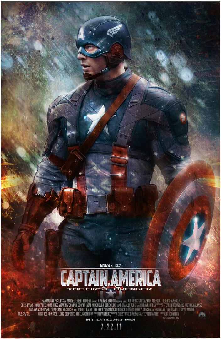 Captain America Poster by SteveDen