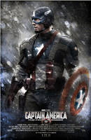 Captain America Poster V2 by SteveDen