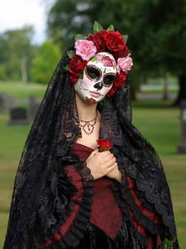 Handmade Mask-La Rosa Catrina