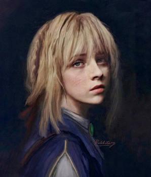 Realistic Violet Evergarden Portrait painting