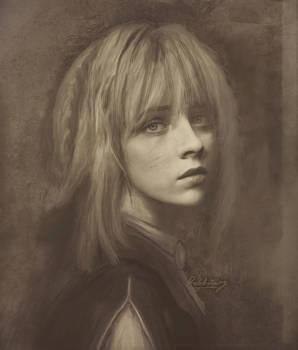 Violet Evergarden Photorealistic (daguerreotype)