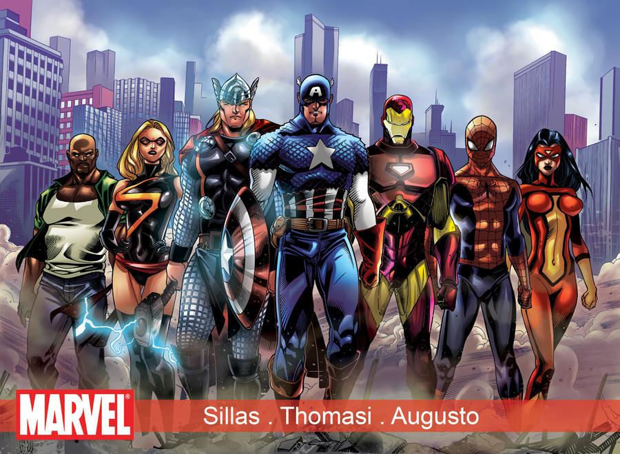 Avengers color by eltondias