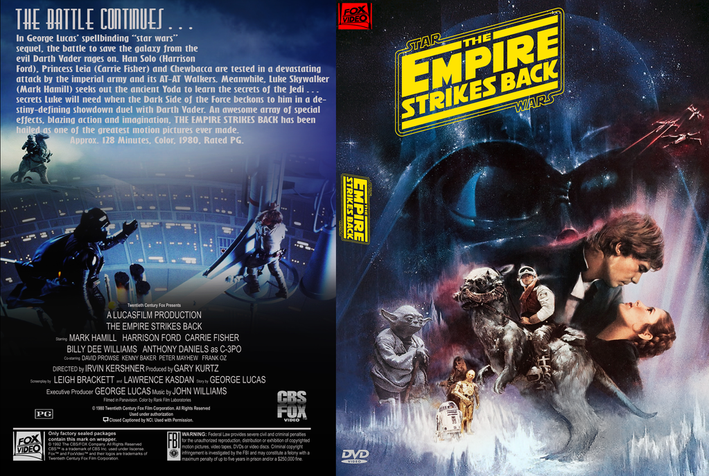 Star Wars DVD Covers - Original Trilogy