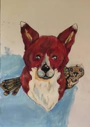 Fox and hawk panting part 2