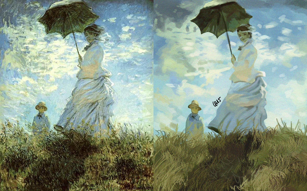 an analysis of the structure of monets painting And, i was surprised to learn that lichtenstein hand painted these works (i always   structure which is an expression of the 20th century as opposed to monet's.