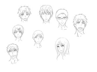 Rough KnB Chara Sketches