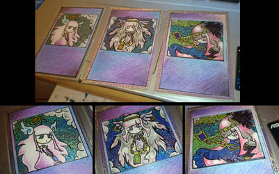 Custom hand-drawn Trading Cards by BOSS-ARTWORK