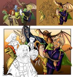 Spellsinger - colour process by poisonmilow