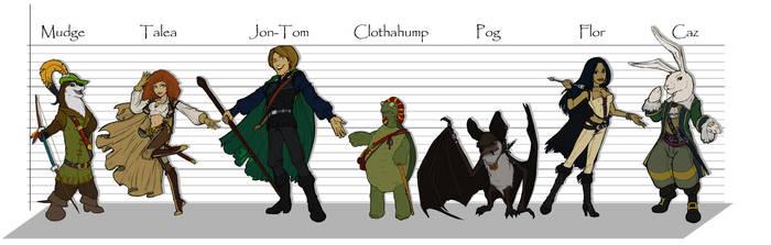Spellsinger Characters by poisonmilow