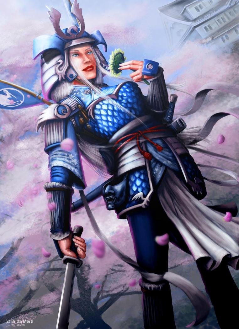 Doji Erico - crane samurai by poisonmilow