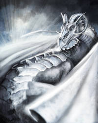 Silver Dragon - Speedpaint by poisonmilow