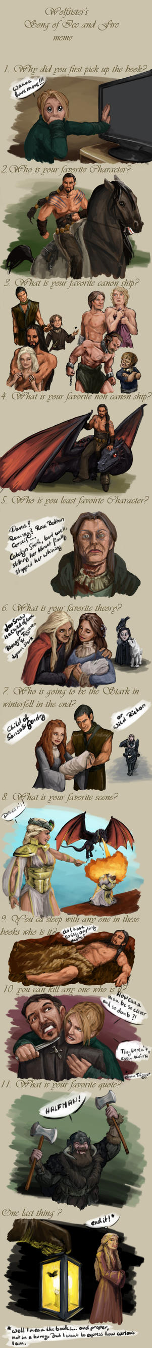 Song of Ice and Fire Meme by poisonmilow