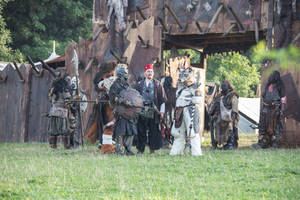 Youa and Jaru at the Orccamp - Drachenfest 2014