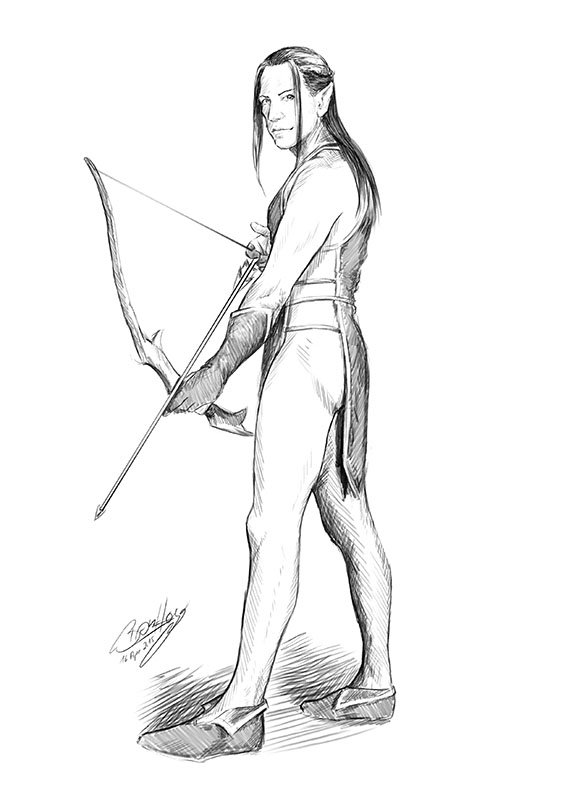PinUp - male elven archer by poisonmilow