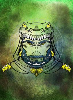 Tribal Face - Croc