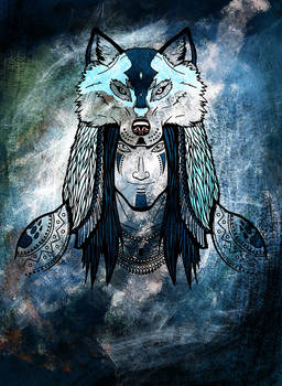 Tribal Face - Wolf