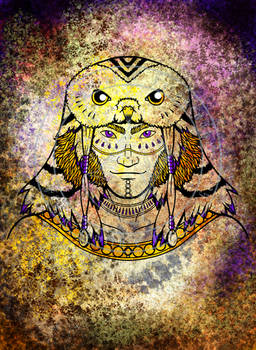 Tribal Face - Owl