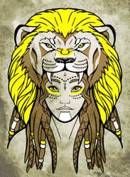 Tribal Face - Lion