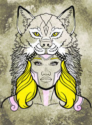Tribal Face - Wolf female