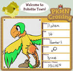 PKMN crossing application Aaken the Archen