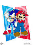 The Heroes- Sonic and Mario
