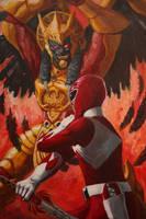 Duel: Red Ranger vs Goldar by Lalilulelo2003