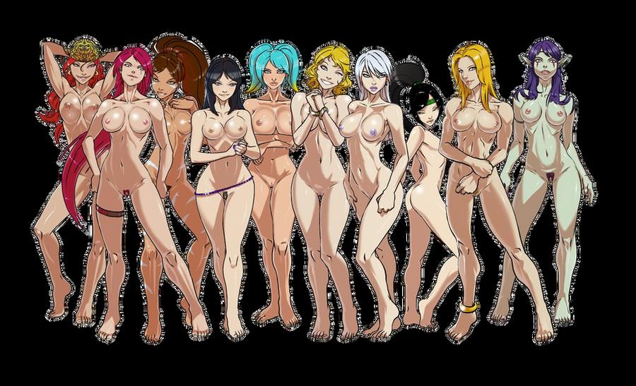 это время голые персонажи слайдеры думала