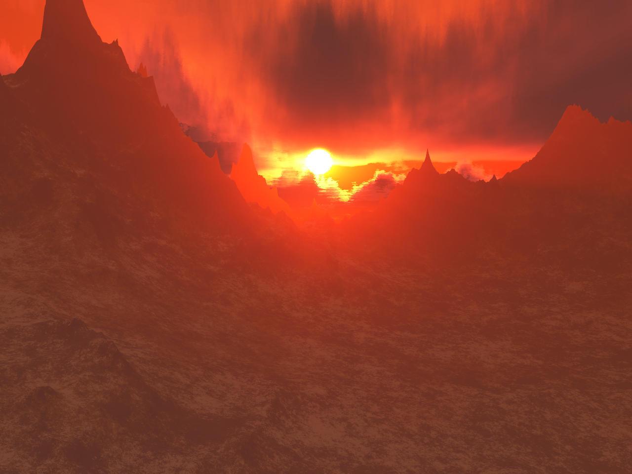 Mars sunset by anubis009 on deviantart - Mars sunset wallpaper ...