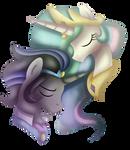 King Sombra and Princess Celestia